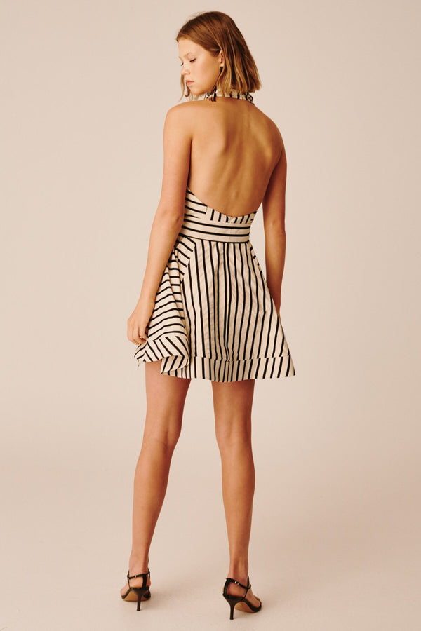 C/ MEO Collective - High As Hope Dress - Ecru Stripe