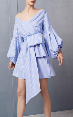 Alexis - Mana Dress - Blue Cotton Jacquard
