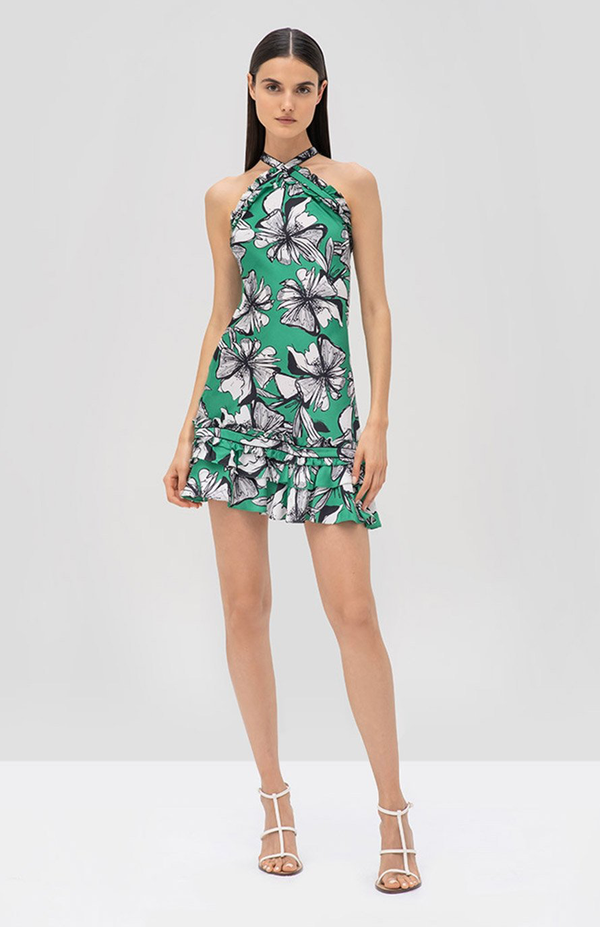 Alexis - Erika Dress - Emerald Floral