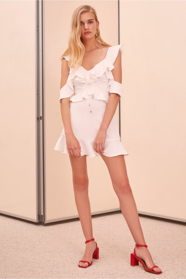 C/MEO Collective - Questions Mini Dress - Ivory