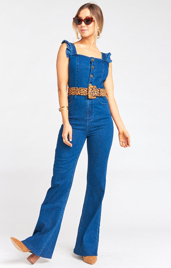 Show Me Your Mumu - Rhea Ruffle Jumpsuit - Blue Note