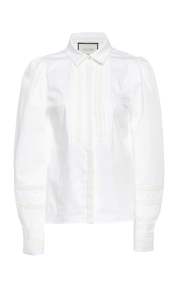 Alexis - Haskel Top - White