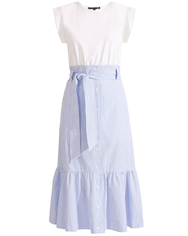 Veronica Beard Capri Dress White/Blue