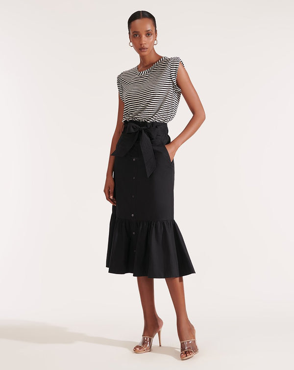 Veronica Beard Capri Mixed Media Dress Black