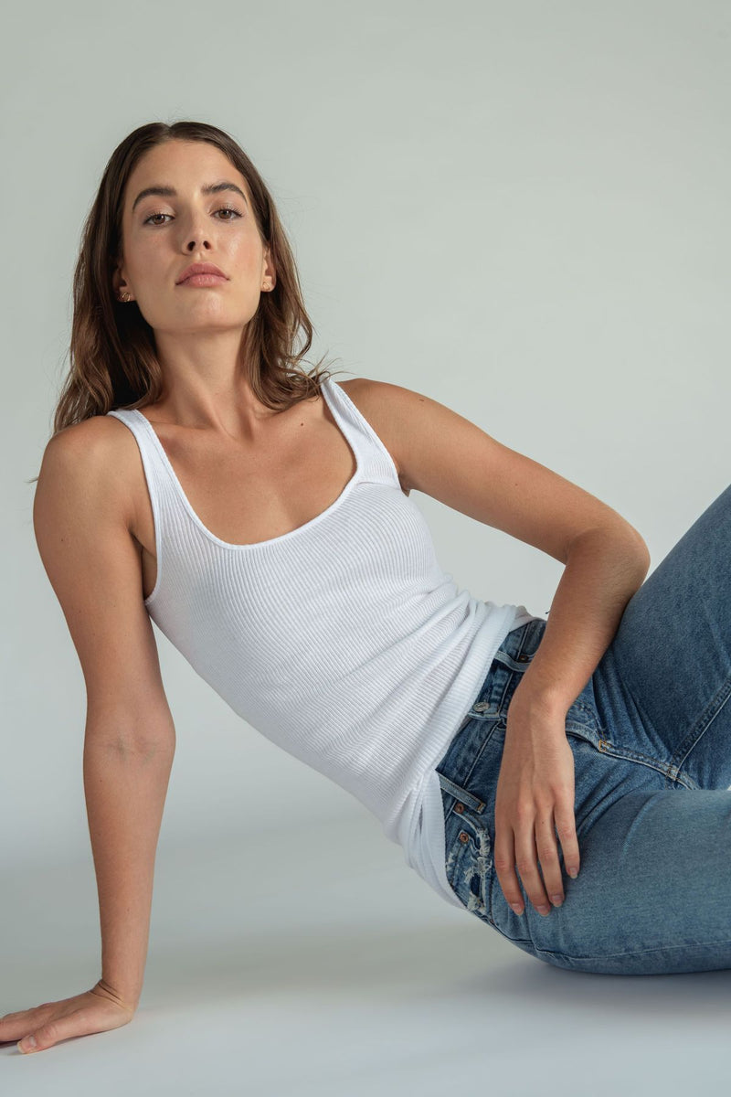 Perfect White Tee - Jagger Tank