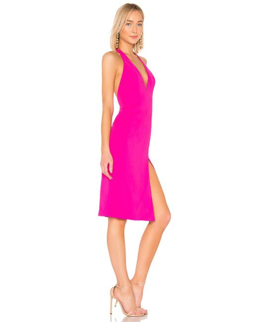 Jay Godfrey - Tannen Midi Dress - Neon Fucsia