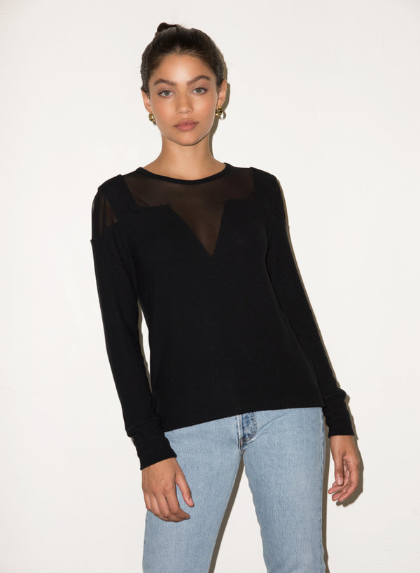LNA - Brushed Jessica Sweater - Black