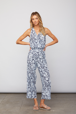 Sundays - Jess Jumpsuit - Blue Floral