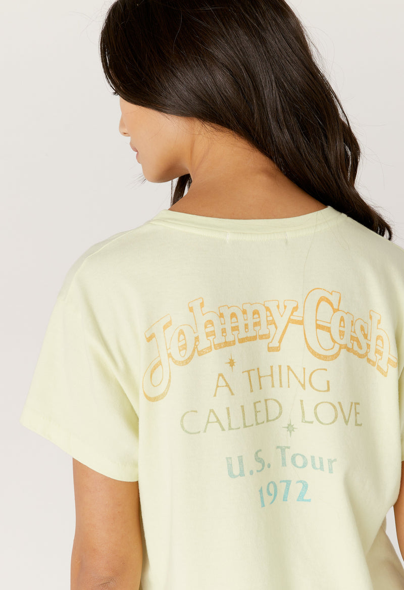 Daydreamer - Johnny Cash A Thing Called Love Tour Tee - Tender Yellow