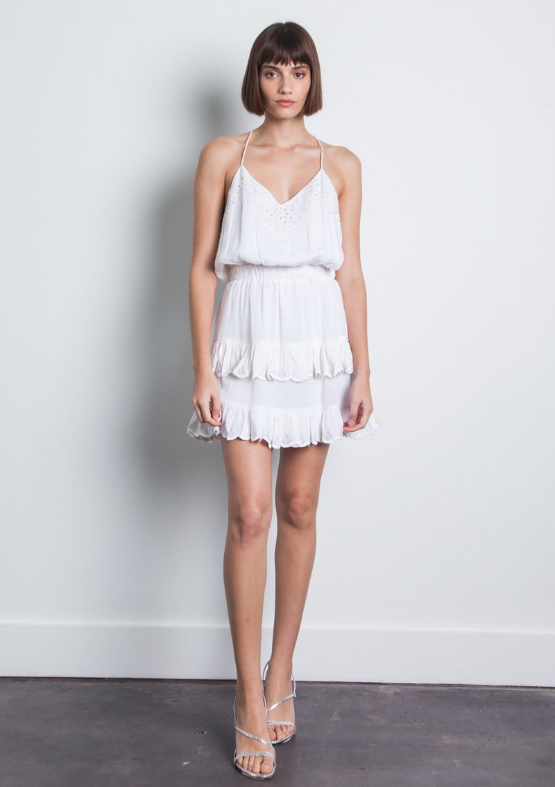 Karina Grimaldi - Kathy Embellished Mini Dress - White
