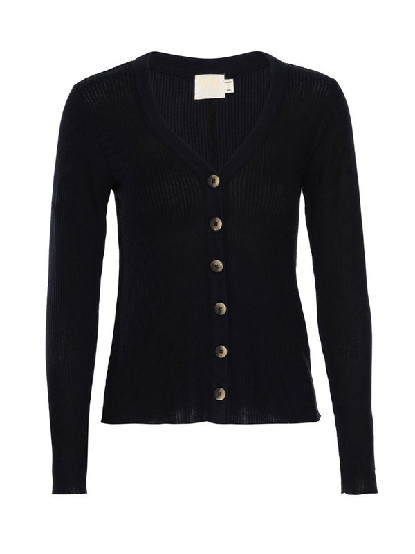 Nation LTD - Kendra Fitted Cardigan - Jet Black