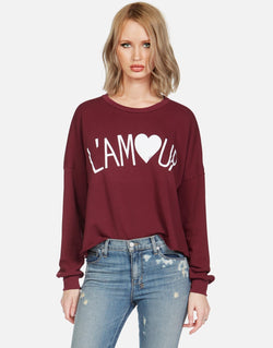 Lauren Moshi - LEE L'AMOUR Pullover - Red Plum