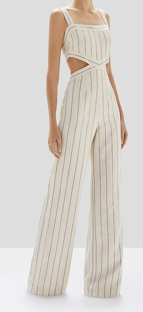 Alexis - Lipton Jumpsuit - Blue Stripes