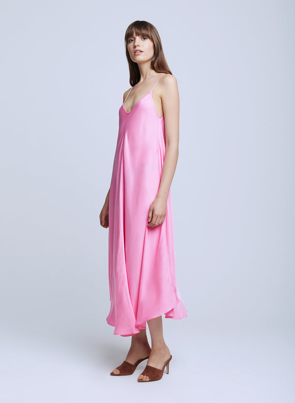 L'agence - Lorraine Trapeze Dress - Rose Bloom