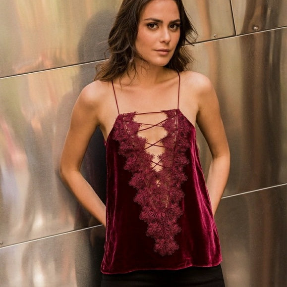 CAMI NYC - THE CHARLIE VELVET - RUBY
