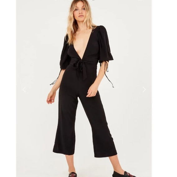 For Love & Lemons - Georgi Jumpsuit - Noir