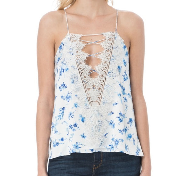 Cami NYC - The Charlie Top - Azure Floral
