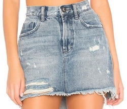 One teaspoon - 2020 mini h/w denim skirt -rocky