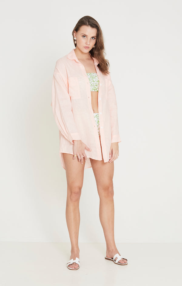 Faithfull The Brand - Marbella Shirt - Plain Pale Pink