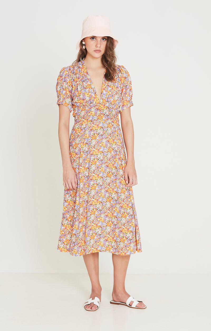Faithfull The Brand - Meadows Midi Dress - Meja Floral Print