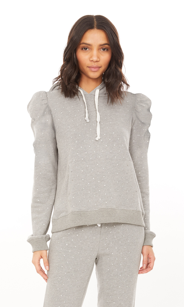 Generation Love - Mia Crystal Sweatshirt - Heather Grey/Clear