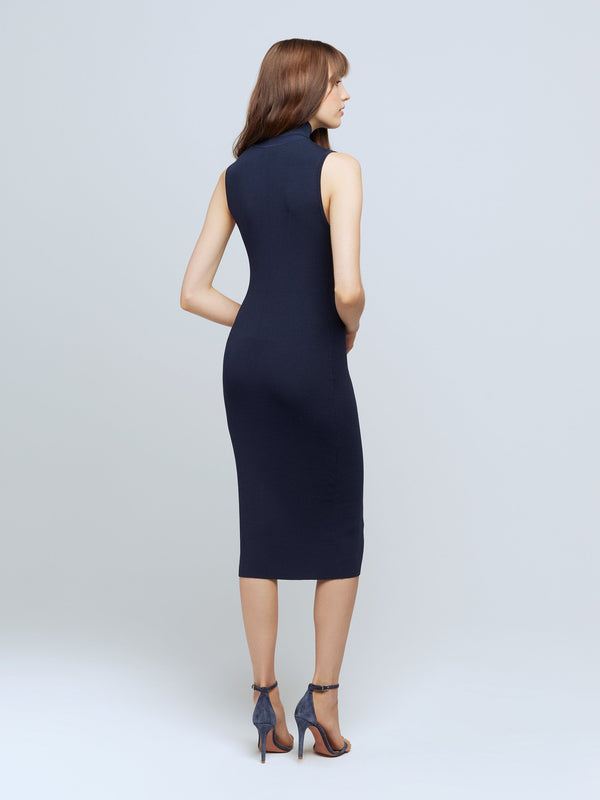 L'agence - Mina S/S Turtle NK Dress - Navy