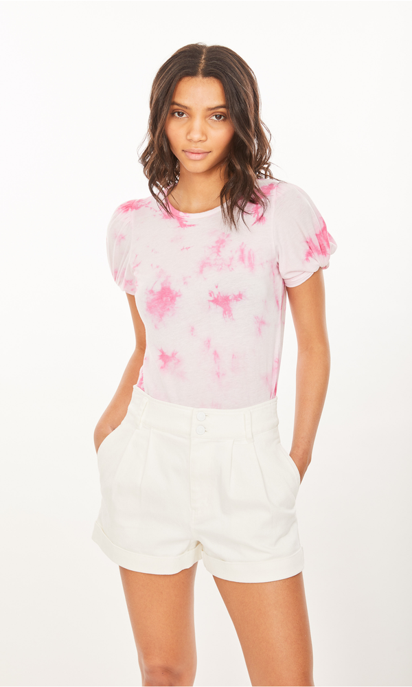 Generation Love - Naomi Tie Dye Top - Pink/White