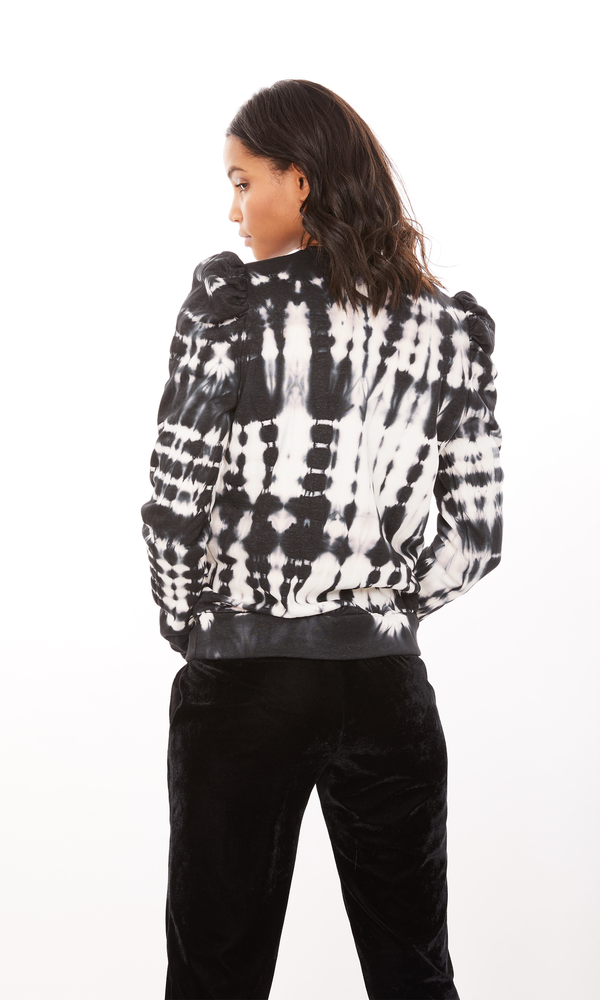 Generation Love - Natasha Tie Dye Sweatshirt - Black/White