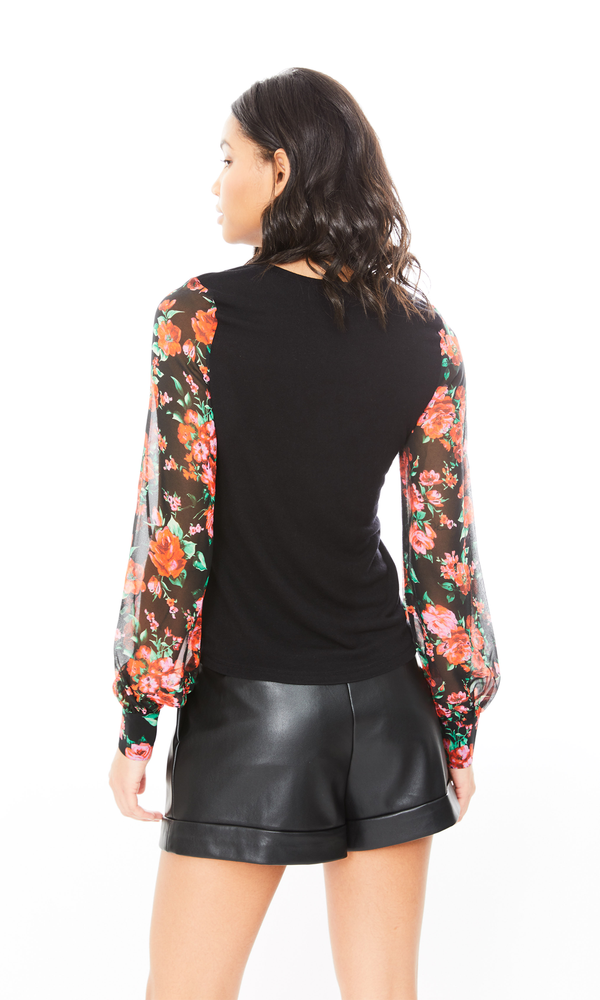 Generation Love - Noelle Rose Top - Black/Red
