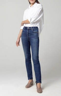 Citizens of Humanity - Olivia High Rise Slim Ankle - Gleam