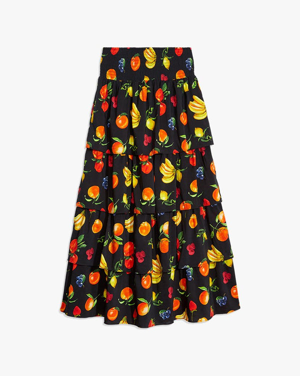 Weworewhat - Paloma Skirt - Black multi Fruits