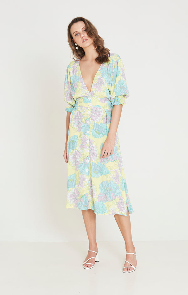 Faithfull The Brand - Rafa Midi Dress - Lera Floral Print
