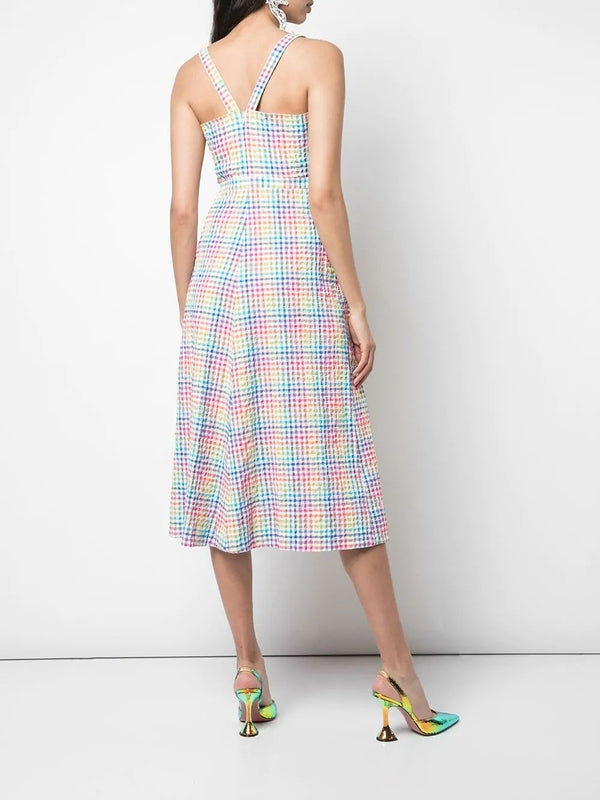 Saloni - Anya Dress - Rainbow Gingham