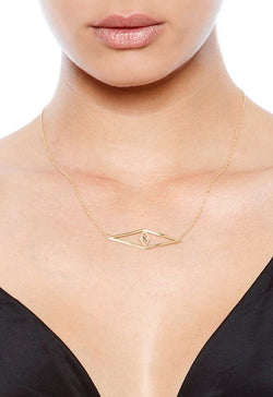 Jennifer Zeuner - Raquel Necklace - Gold w/ Diamond