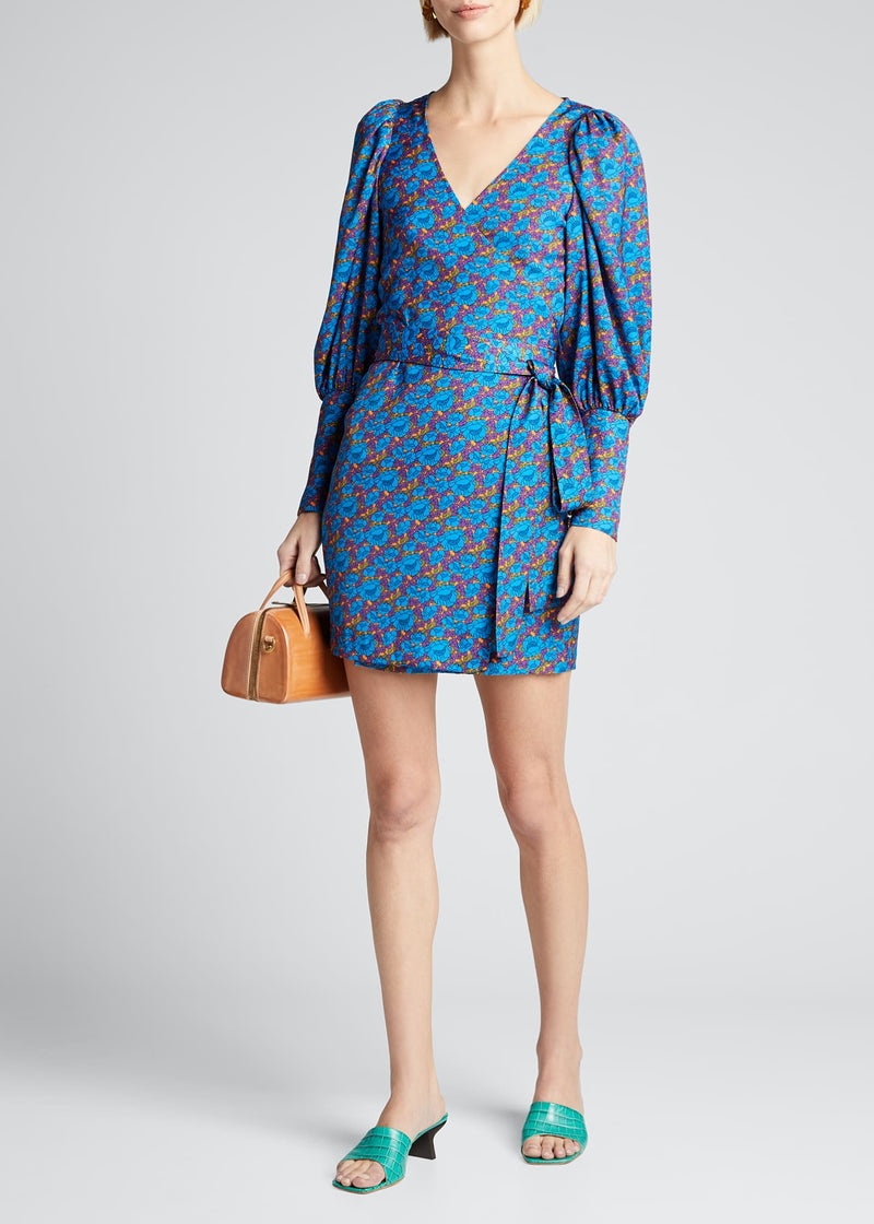 RHODE - Frankie Dress Blue Blossom