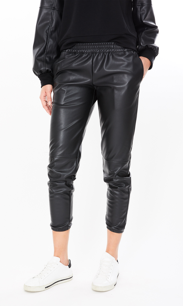 Generation Love - Riley Vegan Leather Jogger - Black