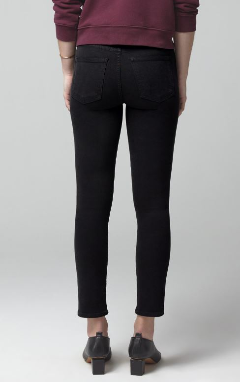 Citizens of Humanity - ROCKET CROP MID RISE SKINNY - Plush Black