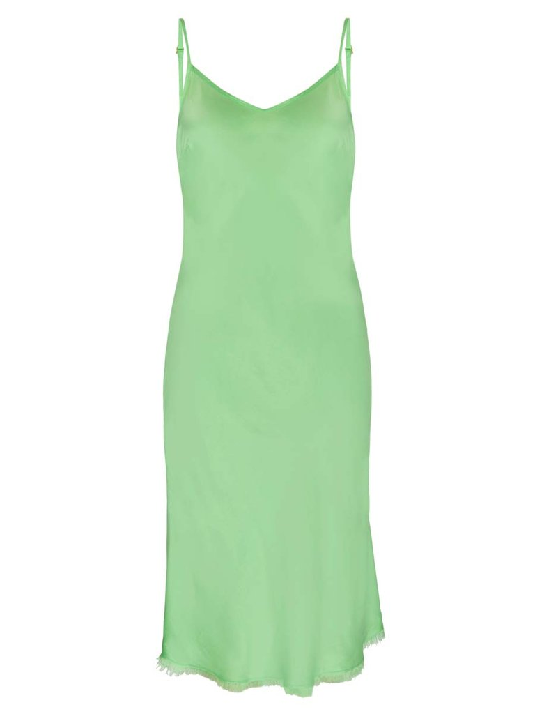Nation ltd - Sofia Midi Slip - Electric Lime