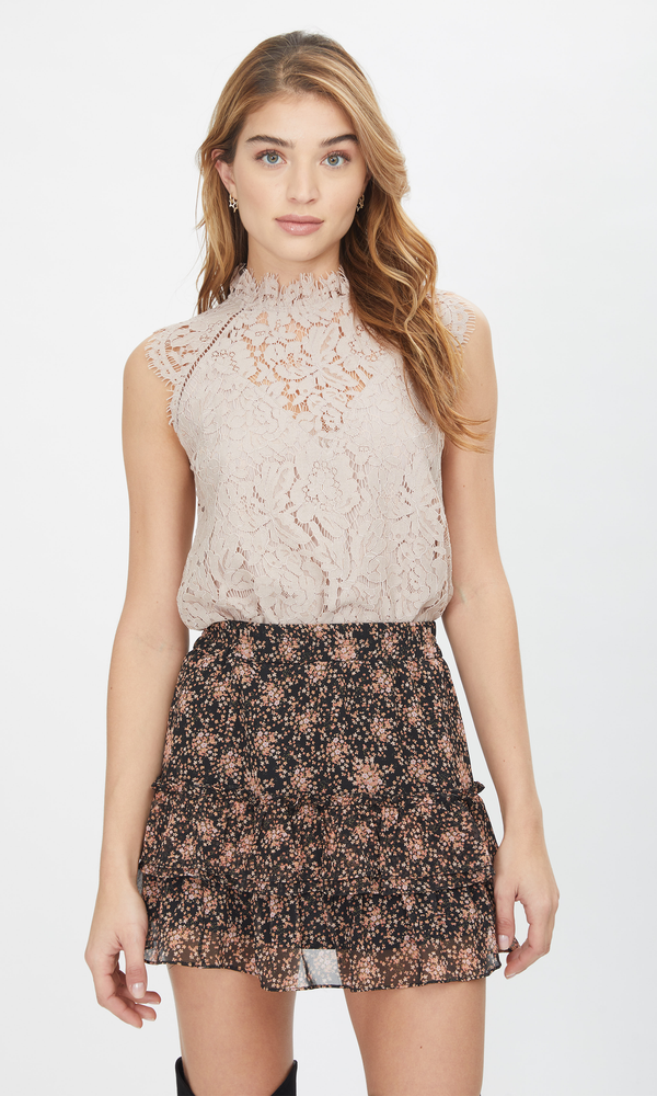 Generation Love - Stefi Lace Top - Taupe