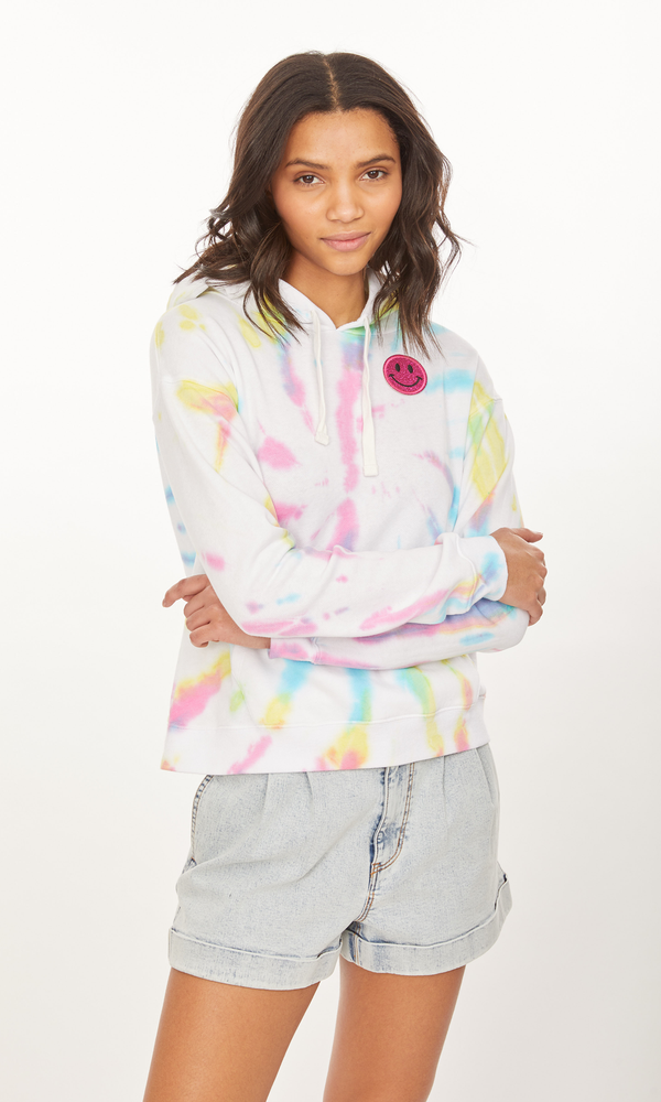 Generation Love - Stevie Smiley Hoodie - Electric Tie Dye