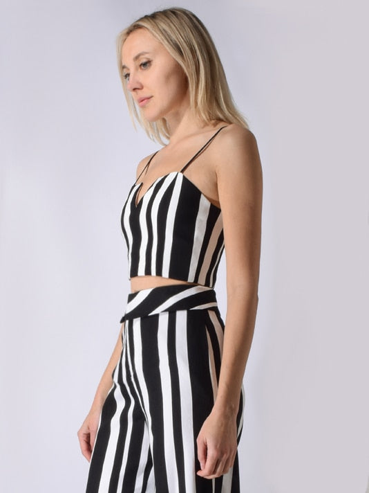 Alice + Olivia - Bertie Striped Bustier - Umbrella Stripe