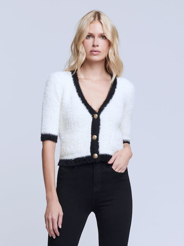 L'agence - Susie Cardigan - Ivory/Black