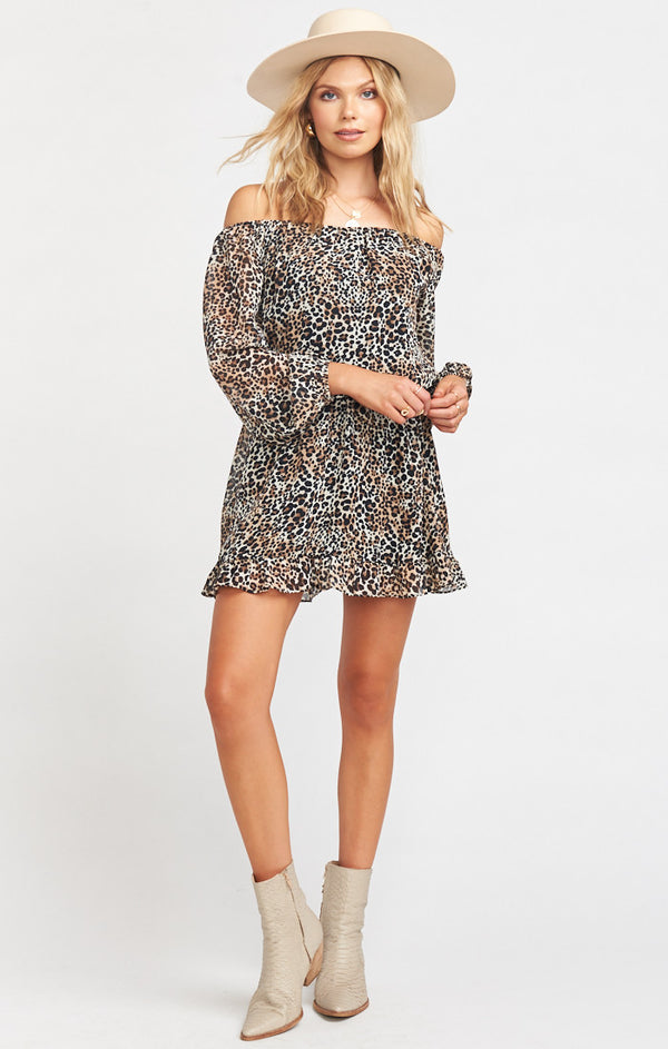 SHOW ME YOUR MUMU - LEE LEE RUFFLE DRESS - ALEX CHEETAH