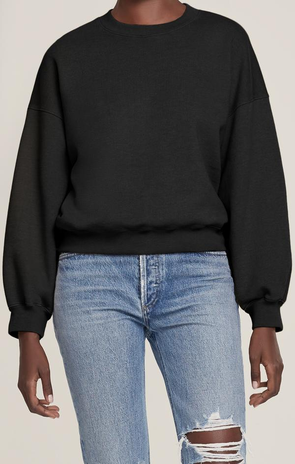 Agolde - Thora 3/4 Sleeve Sweatshirt - Black