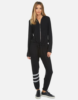 Michael Lauren - Shadow Jumpsuit Jogger - Black/Heather Grey