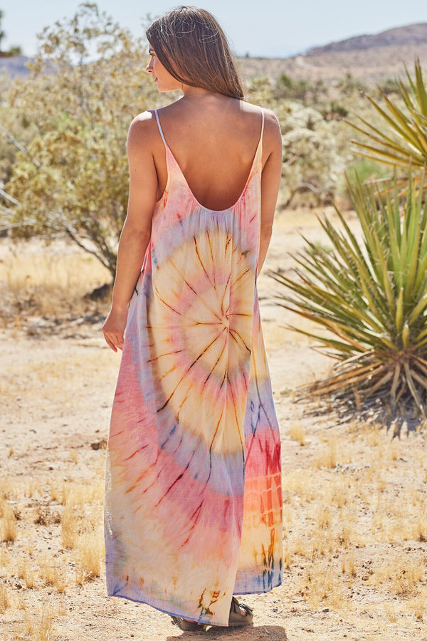 9 SEED - TULUM Low Back Maxi - Aries Tie Dye