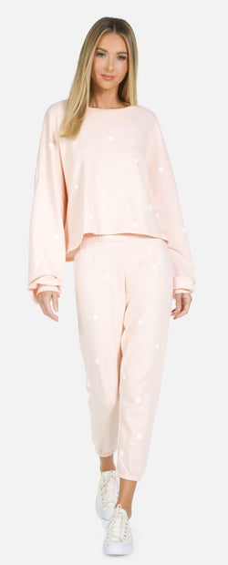 Michael Lauren - Nate Crop Sweatpant Mini Suns - Peachy