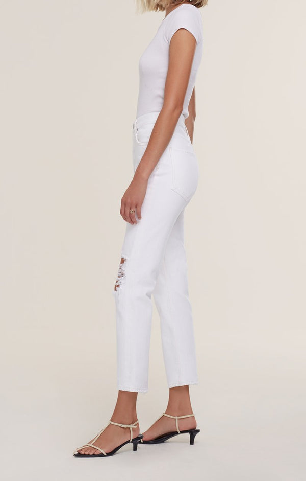 Agolde - Riley Crop High Rise Straight - Veil