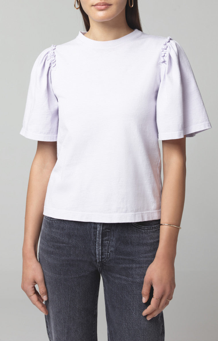 Citizens of Humanity - VERA GATHERED SHOULDER TOP - SOFT VIOLET