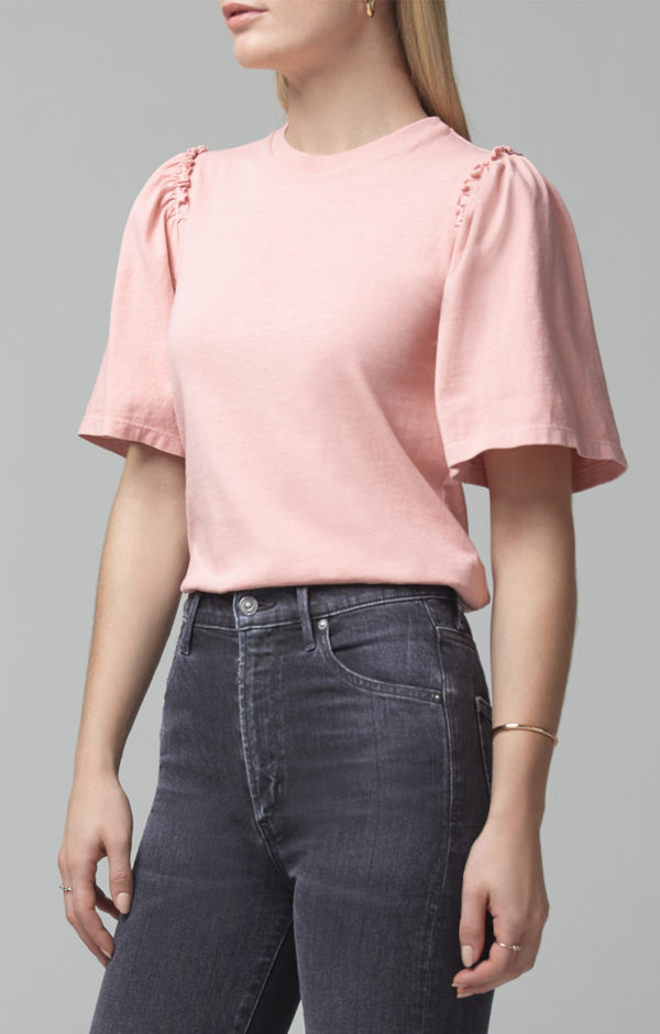 Citizens of Humanity - VERA GATHERED SHOULDER TOP - Vintage Rose
